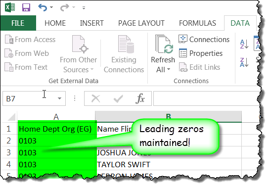 How can I keep leading zeros in CSV files?